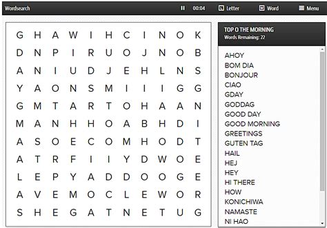 Free Daily Word Search Puzzles