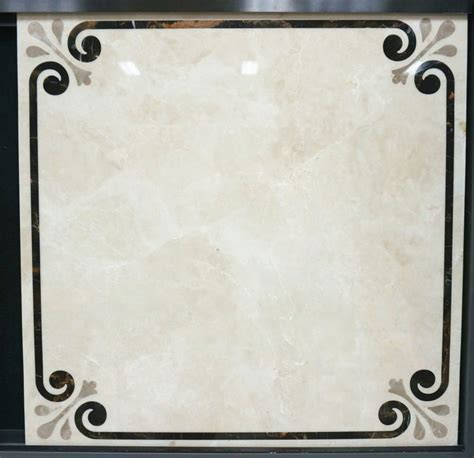 Luxury waterjet marble pattern with laminated tile