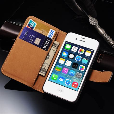 iphone 4s wallet 4s flip wallet leather cover for iphone 4s 4 luxury