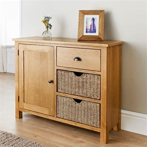 Sideboards With Baskets by Wiltshire Oak Sideboard Living Room Furniture B M
