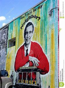 Mr. Rogers - Neighborhood Street Art Editorial Stock Image ...