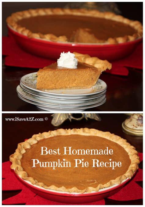 best pumpkin recipe homemade pumpkin pie recipe