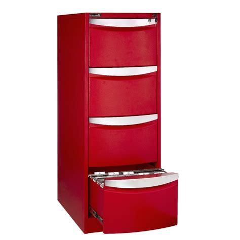 Bisley 4 Drawer Filing Cabinet Red   Cabinets Matttroy