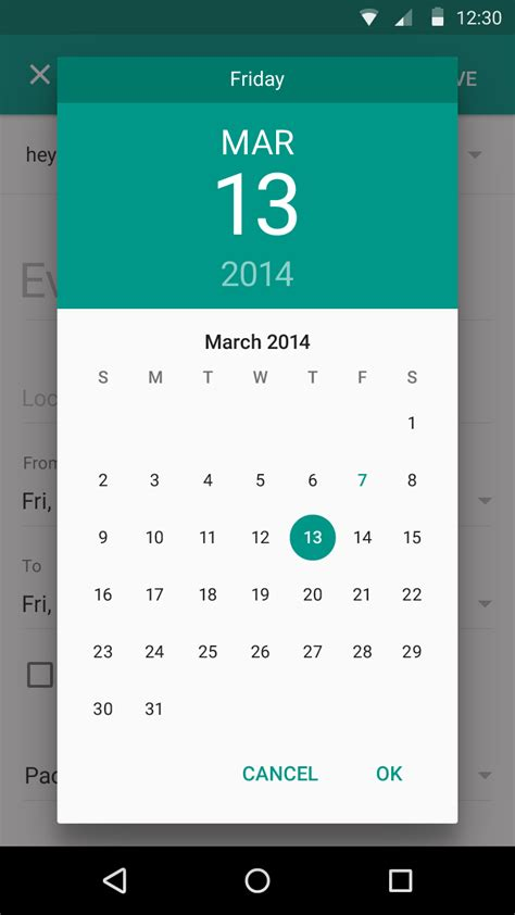 change datepicker dialog color  android  stack
