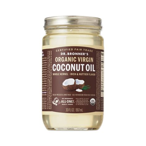 Organic Coconut Oil By Dr Bronners Thrive Market