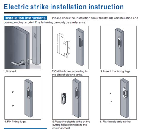 Electric Strike Lock Power Door For Swinging