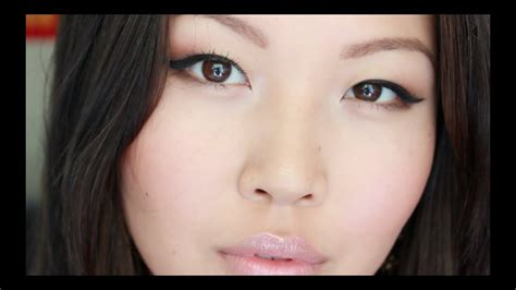 quick everyday makeup  asian eyes favorite drugstore products review youtube
