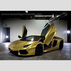 Project Au79 Gold Chrome Wrap On A Lamborghini Aventador Deco Drive Tv Car
