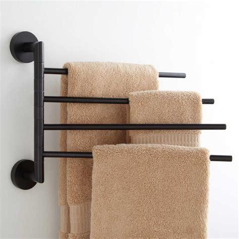 colvin quadruple swing arm towel bar  dark oil rubbed bronze ebay