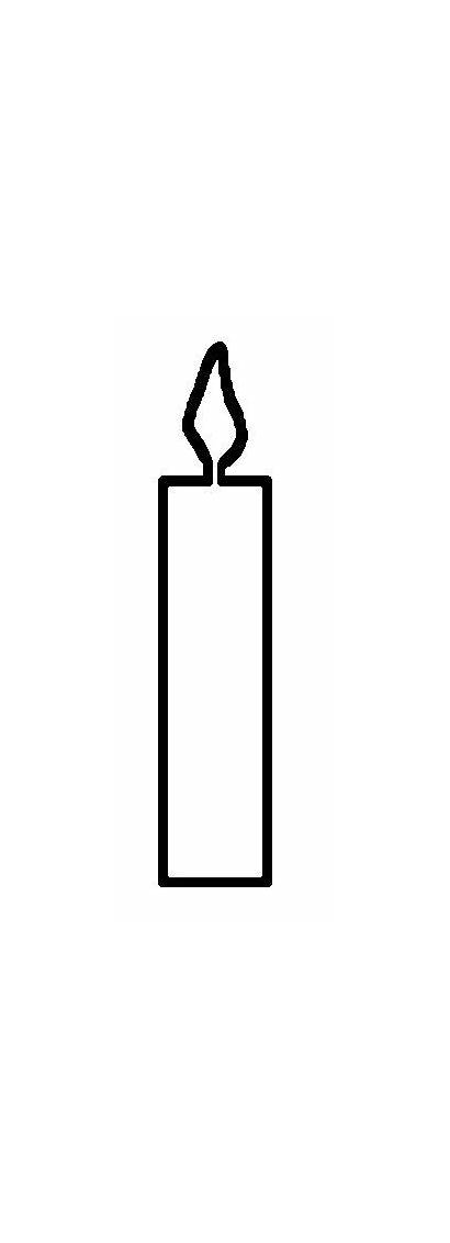 Coloring Candle Birthday Outline Candles Template Printable