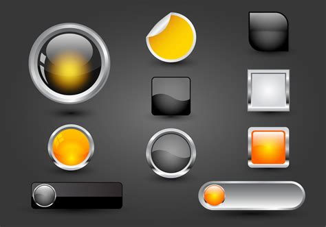 Free Web Buttons Set 05 Vector - Download Free Vectors ...