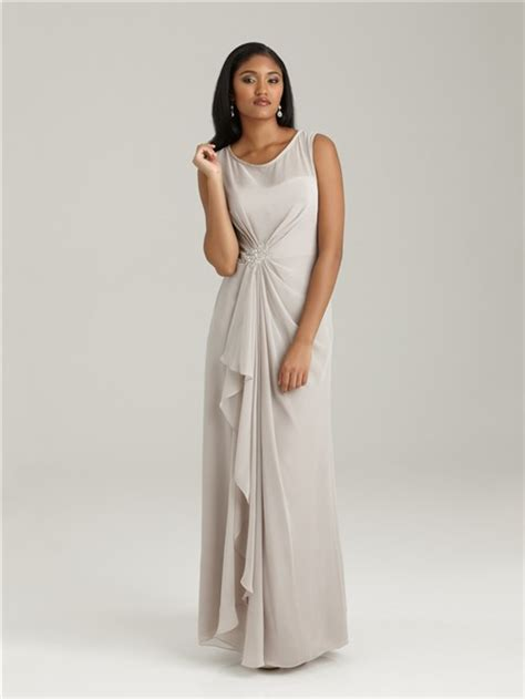 light grey bridesmaid dresses long sheath column scoop long light grey chiffon modest