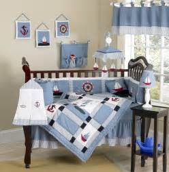 nautical themed blue baby crib bedding 9pc boy nursery