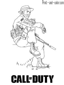 call  duty coloring pages print  colorcom