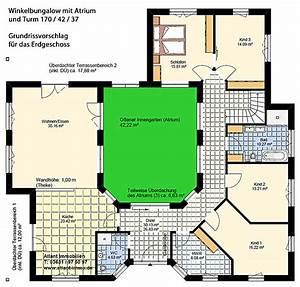 Atriumhaus Bauen Kosten : atrium 7 2 winkelbungalow turm 170 42 37 einfamilienhaus ~ Lizthompson.info Haus und Dekorationen