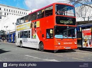 Double decker bus in Birmingham city centre, UK Stock ...