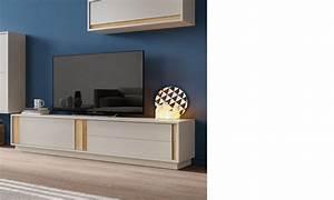 Meuble Tv Bois Foncé : meuble tele design gris laque mat et couleur bois fonce zurich ~ Teatrodelosmanantiales.com Idées de Décoration