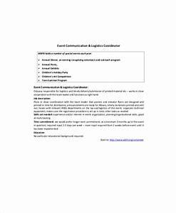 9+ Logistics Coordinator Job Description Samples | Sample ...