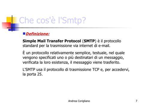 porta standard smtp protocolli posta elettronica