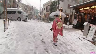 Japan Shibuya Kimono Snow Age Gifs Kaho