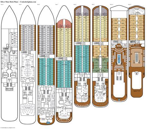 deck plans silver muse deck plans diagrams pictures video