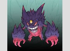 How to Draw Mega Gengar, Step by Step, Pokemon Characters