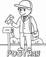 Coloring Postman Sheet Topcoloringpages Children sketch template