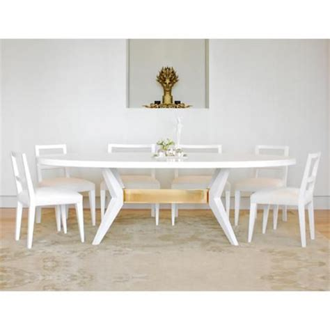white oval dining table fulton oval dining table niedermaier shown in white