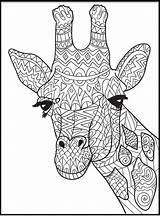 Giraffe Clipart Coloring Printable Internet sketch template