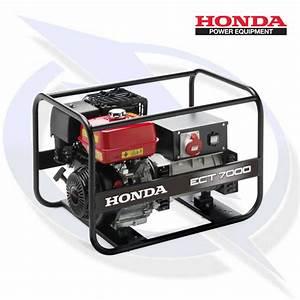Honda Ect 7000 7kw  7kva 3 Phase Framed Petrol Generator