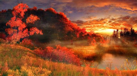 Artistic Nature Wallpaper painting wallpaper and background image 1366x768 id