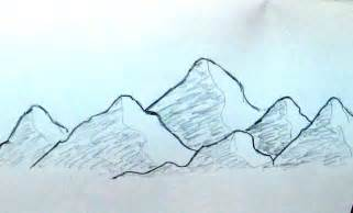 Simple Mountain Drawings Photo by How To Sketch Mountain Range Easy And