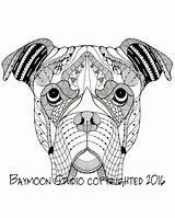 Boxer Coloring Dog Printable Adult sketch template