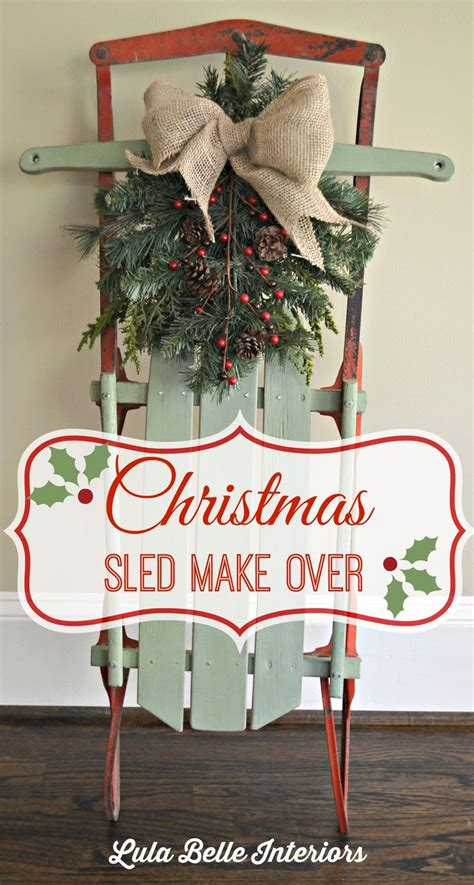 christmas sled ideas  pinterest