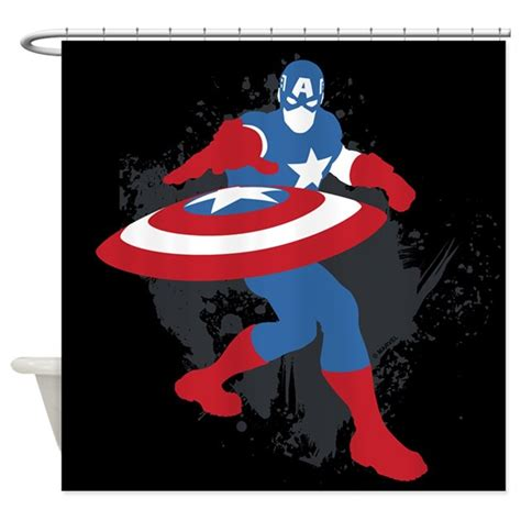 captain america curtains captain america minimalist shower curtain by theavengers