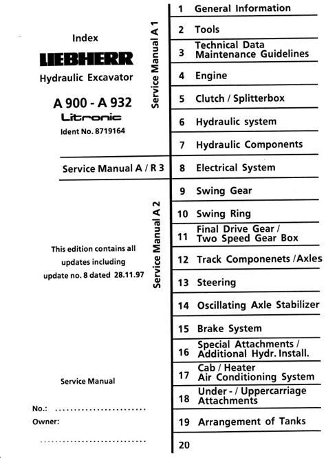 liebherr hydraulic excavator      litronic service manual