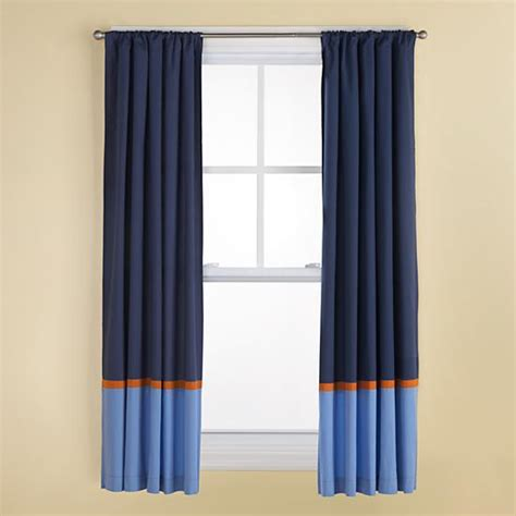 curtains navy and light blue curtains with