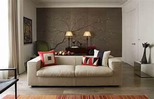 Dachschrägen Tapezieren Beispiele : wandgestaltung wohnzimmer mit tapete beispiele wohnzimmer tapezieren ideen tapeten f r ~ Eleganceandgraceweddings.com Haus und Dekorationen