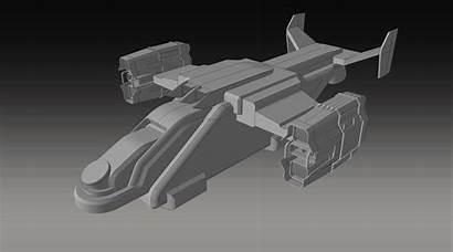 Vulture Shuttle Sci Fi Futuristic Spaceship Space