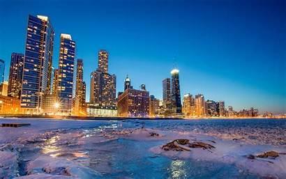 Portland Wallpapers Chicago Winter Skyline Desktop Related