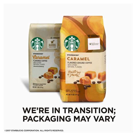 We recommend brewing starbucks® espresso roast with an espresso machine. Starbucks Caramel Flavored Ground Coffee, 11-Ounce Bag ...