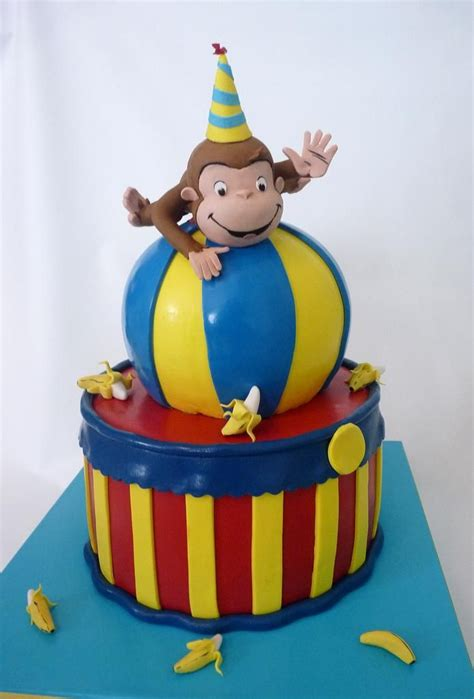 curious george cake birthdays pinterest