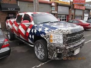 American Flag Paint Job On Trucks