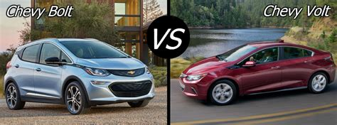 comparing  chevy bolt  chevy volt