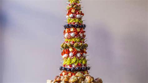 appetizer tree antipasto tree  garlic knots rachael