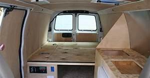 Interior Of Converted Camper Van
