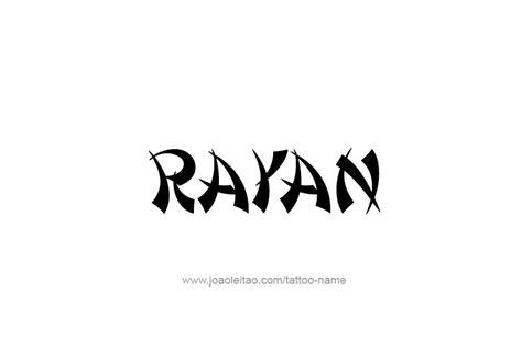 Rayan Name Tattoo Designs