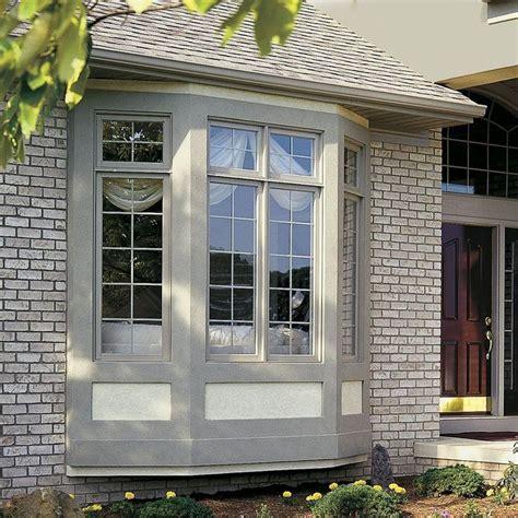 jeld wen        series tan vinyl bay window thdjw  home depot