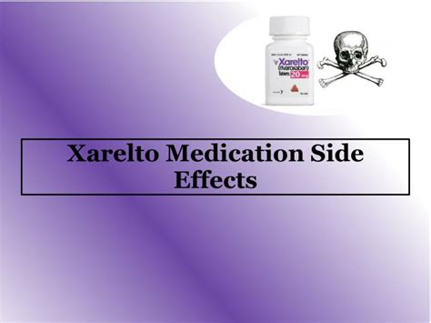 xarelto medication side effects powerpoint