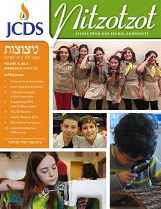 JCDS Spring 2014 Nitzotzot by JCDS, Boston's Jewish ...
